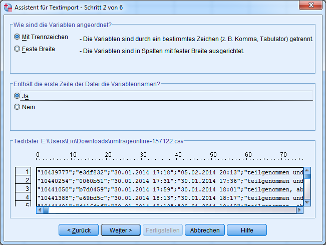 4-SPSS-Textimport-Schritt-2